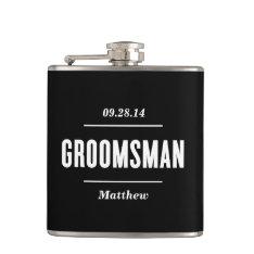 The Groomsman | Wedding Flask at Zazzle