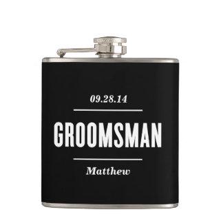 The Groomsman   Wedding Flask