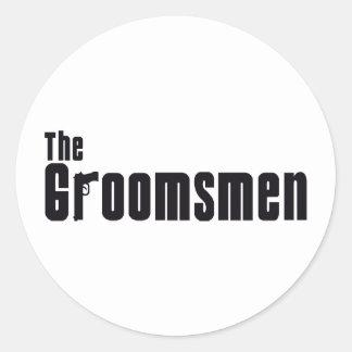 The Groomsmen (Mafia) Classic Round Sticker