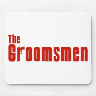 The Groomsmen (Mafia Red) Mouse Pad
