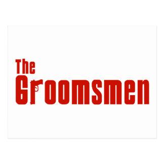 The Groomsmen (Mafia Red) Postcard