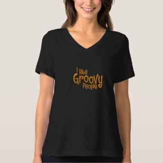 THE GROOVE MOVE _Orange Letters T-shirt