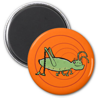 the grooving grasshopper 2 inch round magnet