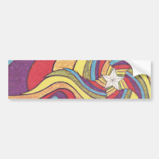 The Groovster Groovy Star Bumper Sticker