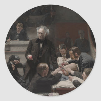 The Gross Clinic by Thomas Eakins Classic Round Sticker