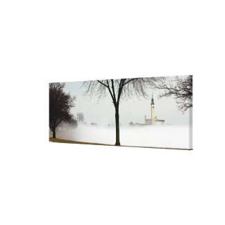 the Grosse Pointe Yacht Club, Lakeshore Drive... Canvas Print
