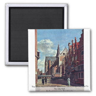 The Grote Markt In Haarlem Fridge Magnets