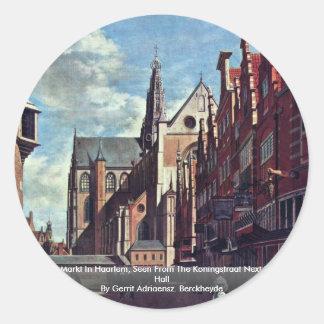 The Grote Markt In Haarlem Round Sticker