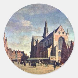 The Grote Markt In Haarlem With The St. Bavochurch Sticker