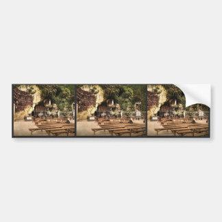 The grotto of Notre Dame, Lourdes, Pyrenees, Franc Bumper Sticker