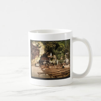 The grotto of Notre Dame, Lourdes, Pyrenees, Franc Classic White Coffee Mug