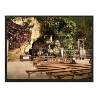 The grotto of Notre Dame, Lourdes, Pyrenees, Franc Postcard