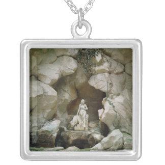 The Grotto of the Laiterie de la Reine Silver Plated Necklace