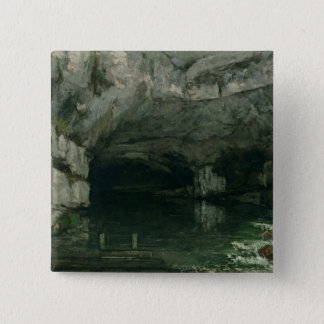 The Grotto of the Loue, 1864 Pinback Button