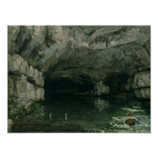 The Grotto of the Loue, 1864 Poster