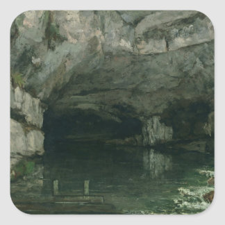 The Grotto of the Loue, 1864 Square Sticker