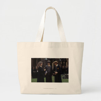 The group outside of Hogwarts Large Tote Bag