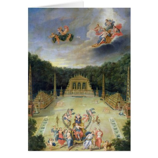 The Groves of Versailles. L'Arc de Triomphe Greeting Card