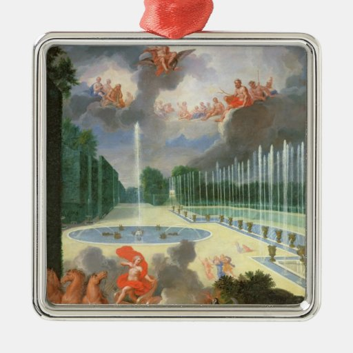 The Groves of Versailles. View of Dragon Pool Metal Ornament