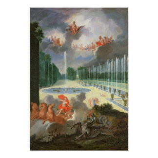 The Groves of Versailles. View of Dragon Pool Poster