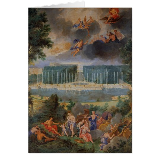The Groves of Versailles. View of pool of Neptune Card