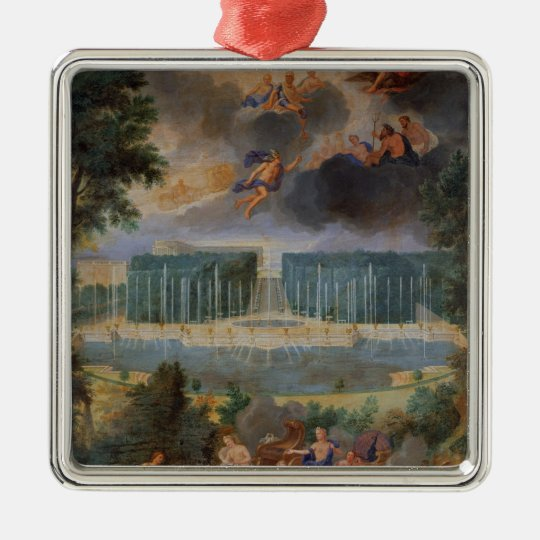 The Groves of Versailles. View of pool of Neptune Metal Ornament