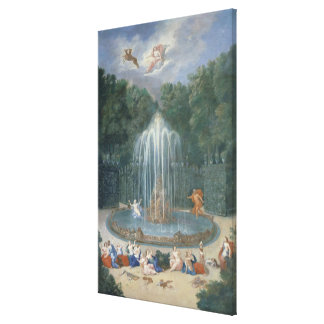The Groves of Versailles. View of Star or Water Stretched Canvas Print