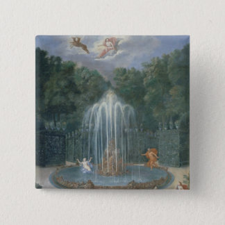 The Groves of Versailles. View of Star or Water Pinback Button