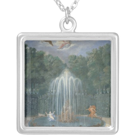 The Groves of Versailles. View of Star or Water Silver Plated Necklace