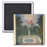 The Groves of Versailles with Mars 2 Inch Square Magnet