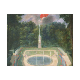 The Groves of Versailles with Mars Canvas Print