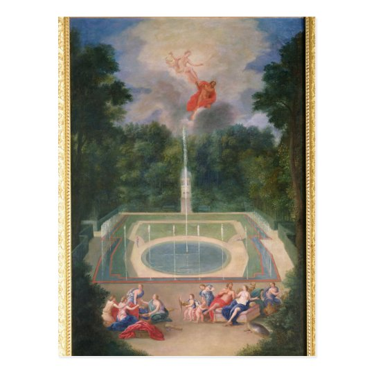 The Groves of Versailles with Mars Postcard