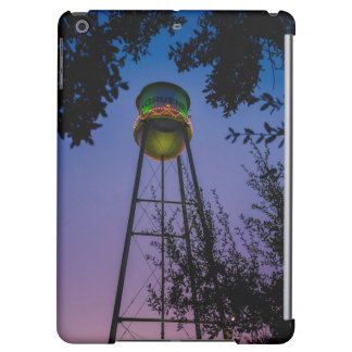 The Gruene water tower with the purple evening sky Cover For iPad Air