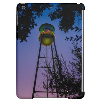 The Gruene water tower with the purple evening sky iPad Air Cover