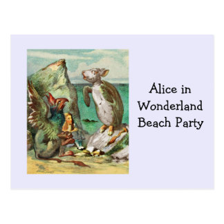 The Gryphon Alice and the Mock Turtle Postcard