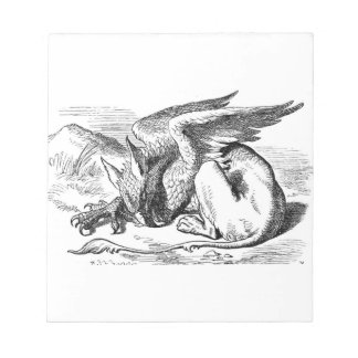 The  Gryphon from Alice in Wonderland Notepad