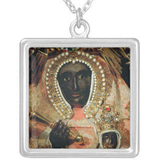 The Guadalupe Madonna Square Pendant Necklace