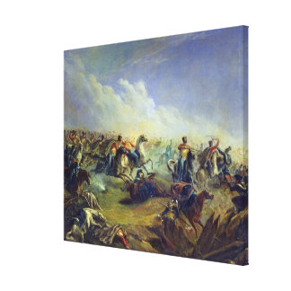 The Guard hussars attacking near Warsaw Canvas Print