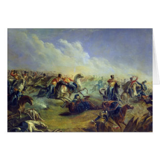 The Guard hussars attacking near Warsaw Card