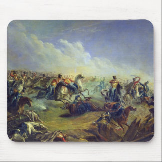 The Guard hussars attacking near Warsaw Mouse Pad