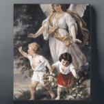 "The Guardian Angel and Children, Vintage Painting. Plaque<br><div class=""desc"">Schutzengel,  Bernhard Plockhorst</div>"