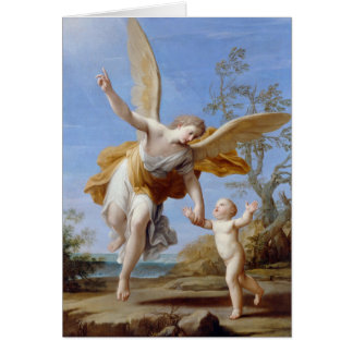 """""""The Guardian Angel"""" greeting card"""