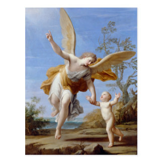 """The Guardian Angel"" postcard"