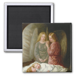 The Guardian Angels 2 Inch Square Magnet