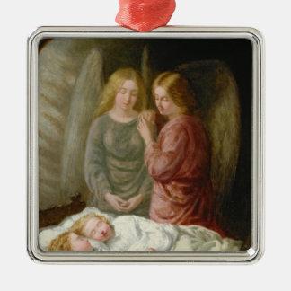 The Guardian Angels Metal Ornament