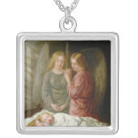 The Guardian Angels Square Pendant Necklace