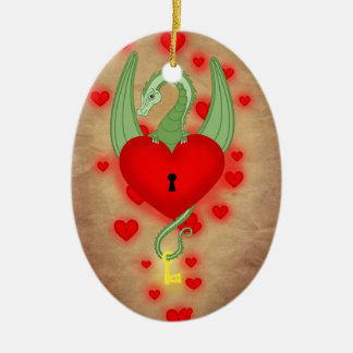 The guardian of the heart ceramic ornament