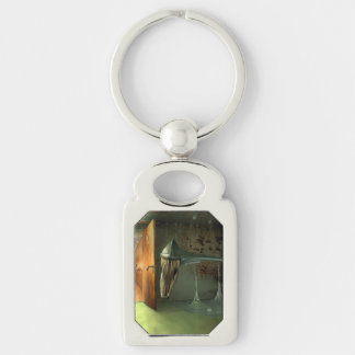 The Guardian Silver-Colored Rectangular Metal Keychain