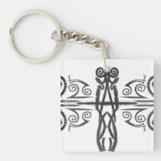 The Guardian Stands Single-Sided Square Acrylic Keychain