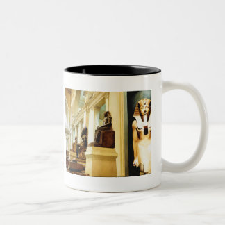 """The Guardians"" Egyptian Watercolor Two-Tone Coffee Mug"